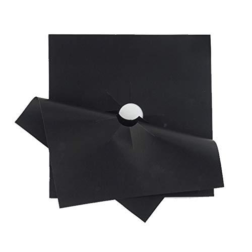Brennerdeckel für Gasherd - Abdeckungen 4 Stück 27 27cm Gas Herd Top Wiederverwendbare Liner Clean Cook Antihaft Deckel (Color : Black)