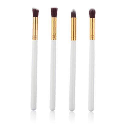 4pcs de maquillage professionnel brosse cosmétiques fond de teint liquide Blending Brush - blanc et or