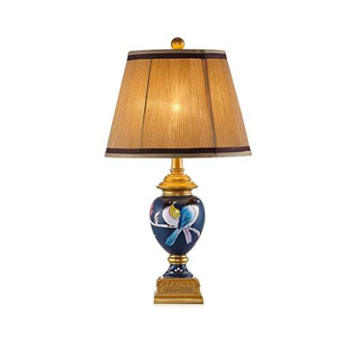 HTL Nueva Lámpara de Mesa China Dormitorio Lámpara de Noche Estudio Creativo Pintado a Mano Lámpara de Mesa Lámpara de Mesa Lámpara de Escritorio Lámparas de Escritorio para Dormitorio (Interruptor: