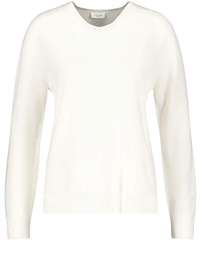Gerry Weber Damen Pullover aus Reiner Baumwolle figurumspielend Off-White 38