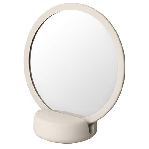 Blomus - SONO - Kosmetikspiegel - Moonbeam/Weiss - Keramik/Silikon - (HxBxT) 185 x 90 x 170mm, One Size, 69162