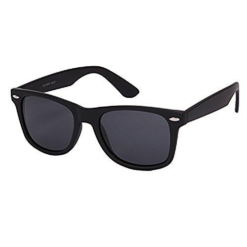 Retro Rewind Classic Polarized Wayfarer Sunglasses (Matte Black, 52)
