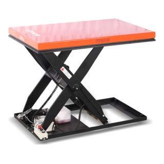 STIER Scheren-Hubtisch, 500 kg Traglast, Hubbereich 190 mm -1010 mm, Hydraulikpumpe, Plattform 1300x800 mm