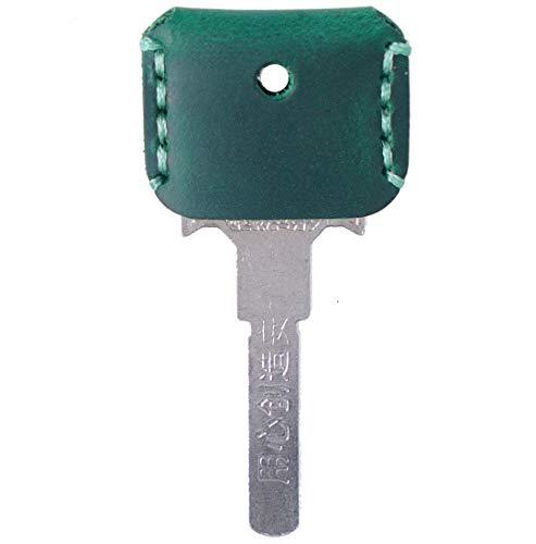 [FREESE] キーカバー 本革 キーケース 【味わい深い皮生地】 キーキャップ アンティーク レザー 鍵 収納 ケース メンズ(グリーン)