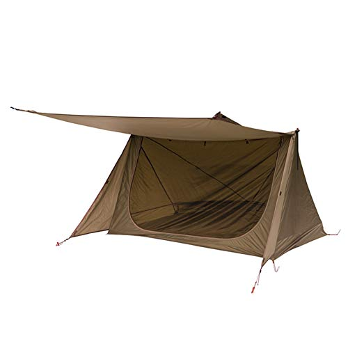 YYDMBH Dome Tents 3 Season Tent Ultralight Shelter Style Tent ; Survivalists Camping Hiking (Color : Brown)
