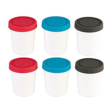 StarPack Portion Control Mini Ice Cream Freezer Containers - Set of 6 with Silicone Lids, Perfect for Baby Food Storage, Meal Prep & More