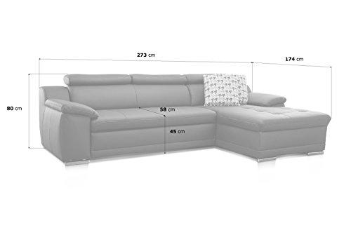 Ecksofa günstig: Cavadore  Aniamo  XL-Longchair rechts kaufen  Bild 1*
