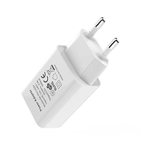 Universal 1-Port Teléfono USB enchufe adaptador VIAJE VIAJE USB Cargador de pared para iPhone X iPhone 8/8 Plus iPhone 7/6/6 Plus, Samsung S8 / S7 Edge (blanco, enchufe en el Reino Unido)