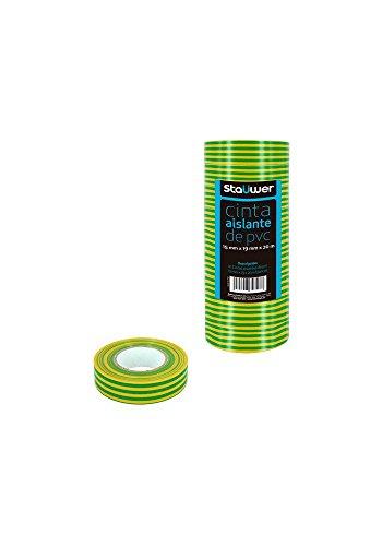 staüwer–Pack di 10nastri isolanti, PVC, 15mm x 19mm x 20m), ASI08382532