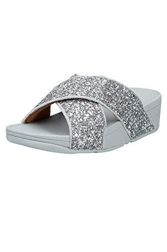 Fitflop Damen Lulu Glitter Slides Sandalen, Silber (Silver 011), 42 EU