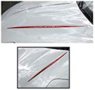 Eckler's Premier Quality Products 25-130507 - Corvette Hood Decal Kit With Word Corvette Red