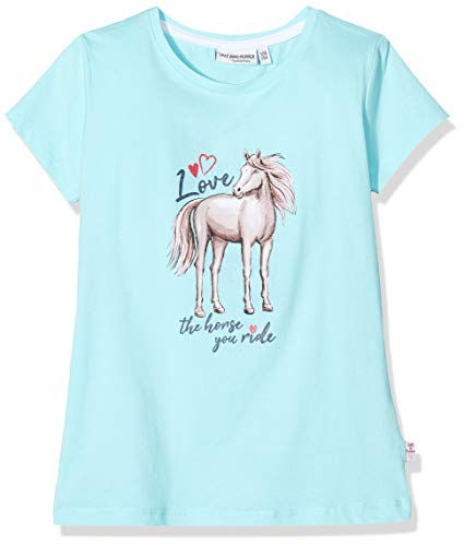 Salt & Pepper Mädchen 03112267 T-Shirt, Türkis (Curacao Blue 439), 128 (Herstellergröße: 128/134)