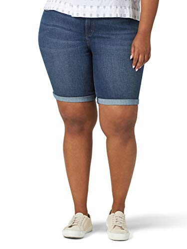 Lee Flex Motion - Bermudas para Mujer, Talla Grande, Expedition, 20 Plus