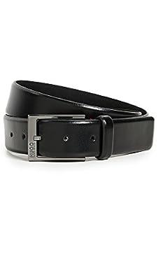 Hugo Boss Men's Garney Leather Belt, black, 36