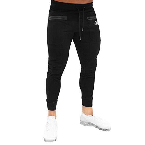 Realdo Men's Sweat Pants Big, Mens Athletic Slim Fitness Running Jogging Sports Pants Black
