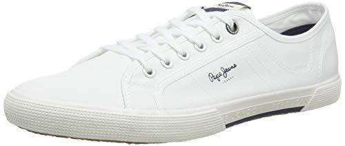 Pepe Jeans ABERMAN Smart, Zapatillas para Hombre, Color Blanco 800, 43 EU