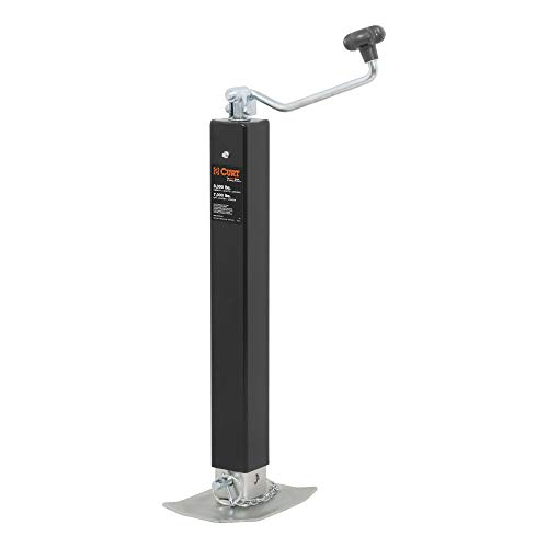CURT 28570 Direct Weld On Heavy-Duty Trailer Jack, 8,000 lbs. 15-1/4 Inches Vertical Travel