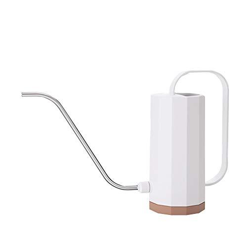 Nieuw eenvoudig ontwerp 1.2L Long Mouth Watering Can, Practical Bloemen Tuingereedschap Handvat Plastic Plant Sprinkler Potted Kettle Irrigatie voor huis tuin,White