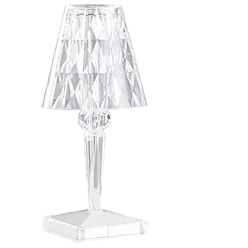 HHIAK666 Crystal Diamond Tischlampe, Led Acryl-AtmosphäRenlicht, USB Charging Touch Nachtlicht, Moderne Nachttischlampe FüR Schlafzimmer, Wohnzimmer, Desktop-Dekor A