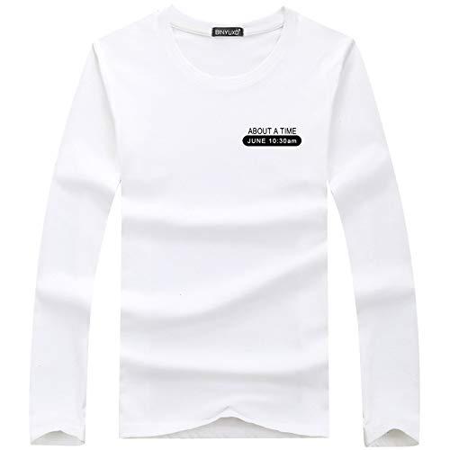 Los Estudiantes de la Camiseta de Manga Larga de los Hombres de la Camisa del Fondo del otoño