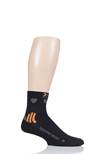 X-SOCKS - Calze da ciclismo, 2 pezzi, colore: Nero