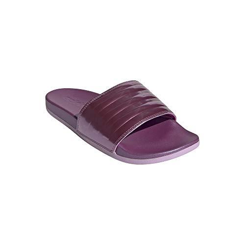 adidas Adilette Slides - Ciabatte da bagno da donna, Rosso (Berry Metal), 37 EU
