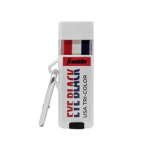 Franklin Sports MLB Premium Eye Black - Red. White, Blue