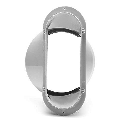 DEDC 1pcs Mobile Klimaanlage Fensteradapter 15 cm Flachmundschnittstelle Adapter Übergangsstück Eckig für Tragbare Klimaanlage Lüftungssystem