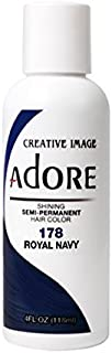 Adore Semi-Permanent Haircolor #178 Royal Navy 4 Ounce (118ml)