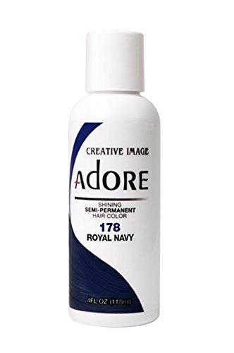 Creative Image Adore Semi-Permanent Hair Color (178 Royal Navy) by Adore