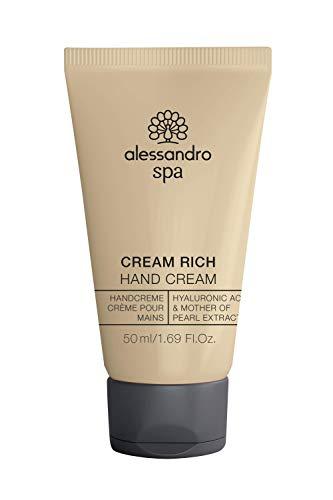 alessandro Spa Cream Rich- Reichhaltige Anti-Aging Handcreme, bei trockenen und strapazierten Händen, 50 ml
