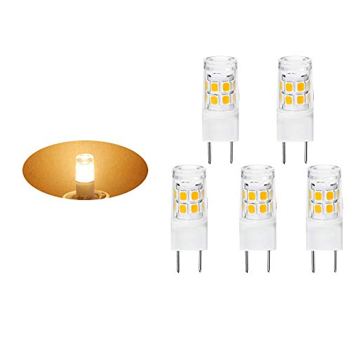2W G8 Light Bulb Warm White Replace BPXN20 Xenon 16430-20 Bulb| for Under Cabinet Puck Lights, Kitchen Hood,WB25X10019 20W Replacement GE Microwave Light | Warm White AC110v-130v(5 Pack)