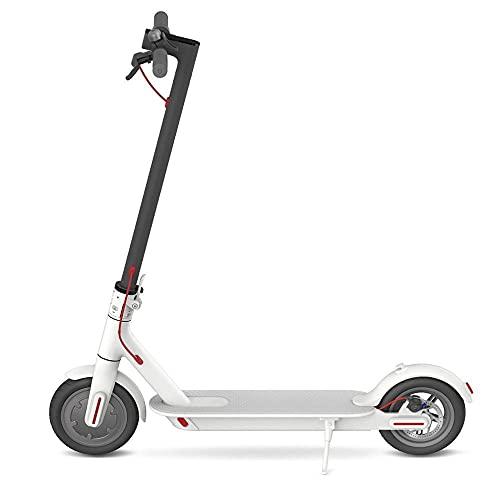 Elektrisk scooter 7,8 AH Autonomi av 25km sport med smart applikation/display-Vit lager_TYSKLAND