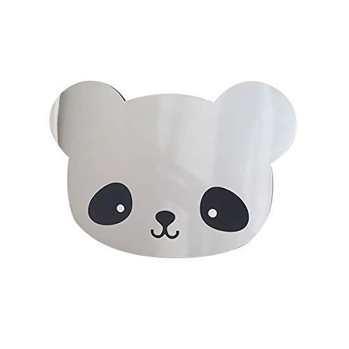 Cestor 3D Nordic Kinderzimmer Spiegel,Acryl Dekorative Spiegel Wandaufkleber Aufkleber Kinder Kinder Kunst Wohnkultur Haushalt Geburtstagsgeschenk,Panda