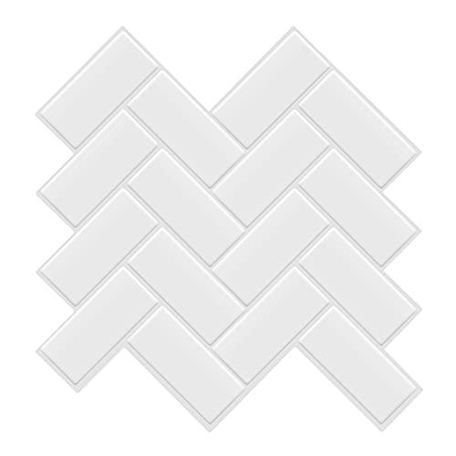 HOLSKEAT 5 Piezas Pegatinas de Pared PVC, Azulejos Adhesivos Resistente Calor Impermeable Protector contra Salpicaduras para Sala Cocina Mosaico,C