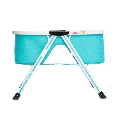 XYSQ Deluxe Minicuna Colecho Cuna De Colecho para Recién Nacidos,Colchón Desmontable Y Lavable, Malla Transpirable,Plegado Fácil Ventilación (Color : Blue)
