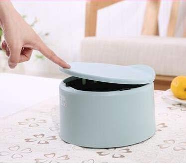 weichuang Mini-Mülleimer, modisch, kreativ, rund, für Auto, Zuhause, Büro, kleiner Mülleimer für den Schreibtisch, multifunktional, niedlicher Mülleimer (Farbe: 2)