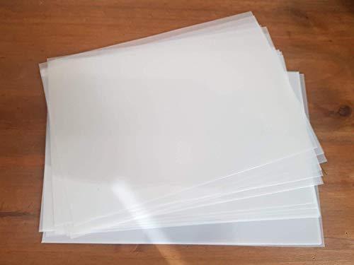 A4 X 10 fogli per stencil 125 micron Mylar sottile trasparente stencil...