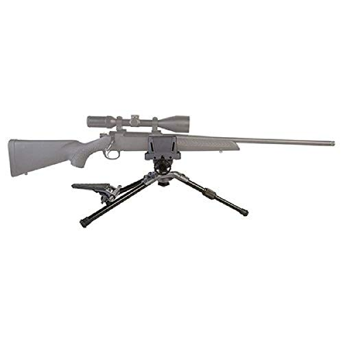 Caldwell Precision Turret Adjustable Ambidextrous Swivel and Tilt Detachable Magazine Rifle Shooting Rest with Pistol Grip Attachment for Outdoor Range