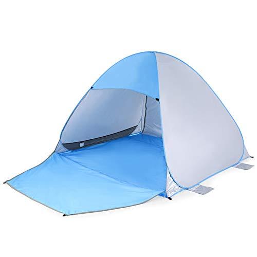 JOE Tienda de la Playa, automático inmediato Pop Up UV Protección Parasol Refugio Extensión Piso Pesca Senderismo Picnic Camping 3-4people Carpa