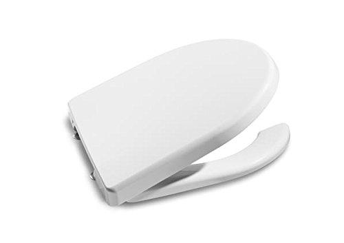 Roca A801230004 Colección Access y Meridian - Asiento y tapa con apertura frontal, color blanco