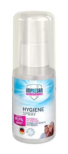 Impresan Hygiene-Spray to go: Oberflächendesinfektion für unterwegs - Desinfektionsspray auch für Textilien - 1 x 50ml
