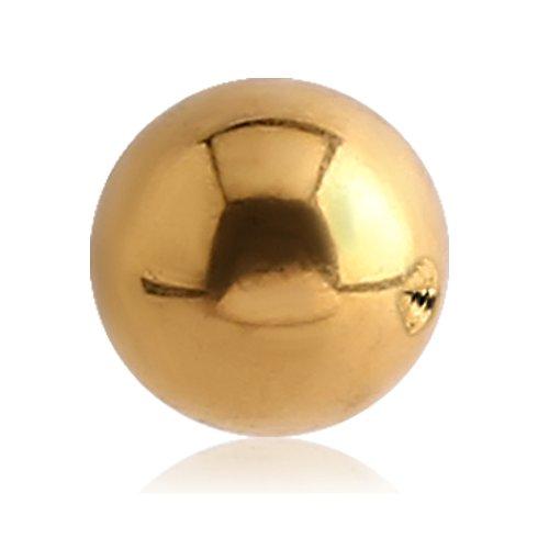 eeddoo Piercingkugel klassisch Gold Edelstahl 1,2 x 2mm