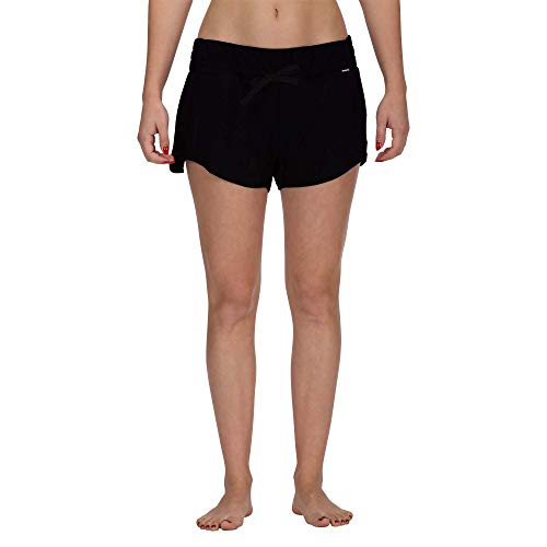 Hurley Women#039s Apparel Women#039s Beach Short Elastic Waist Black L
