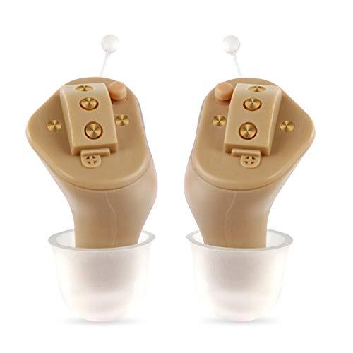 BJ&HH Amplificador De Audición Digital Premium - Invisible in Canal (CIC) Juego De Mini Potenciador De Sonido En La Oreja, Sonido Personal Casi Invisible con Cancelación De Ruido,Pair