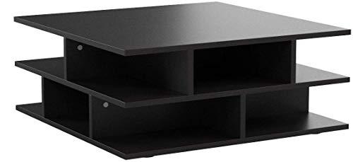 Table Basse Contemporain Multicases Noir 70 x 70 x 28,9...