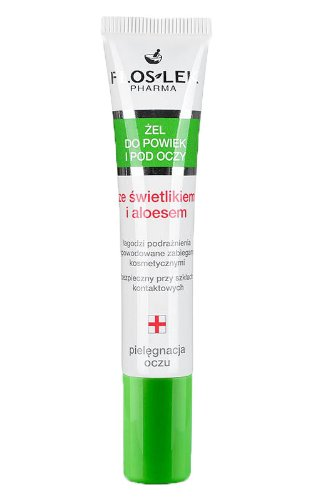 EYEBRIGHT Lid & under eye gel with eyebright and aloe 15ml TUBA, FLOS-LEK reduces irritation, redness, gently cools down