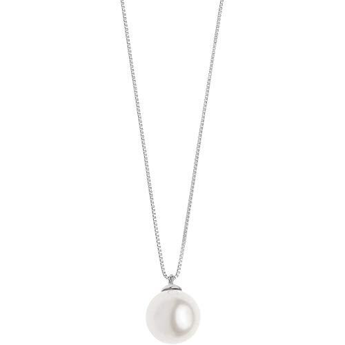 Collana Da Donna Di Comete In Oro Bianco E Perla classico cod. GLP 564
