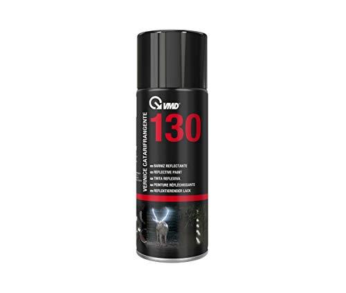 VMD Italia - VMD 130 Vernice Catarifrangente - Bomboletta Spray- Utilizzato per Evidenziare Eventuali Pericoli e Tutelare la Sicurezza delle Persone in Ambiente di Lavoro e in Strada - 400 ml