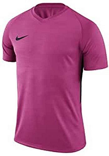 NIKE M NK Dry Tiempo Prem JSY SS T-Shirt, Hombre, Vivid Pink/Vivid Pink/Black/Black, L